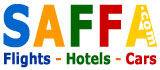Flights, Hotels, Cars, SAFFA